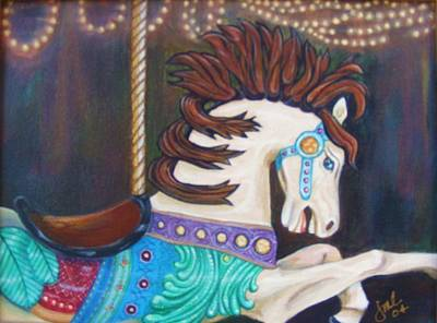 Painting - Carousel by Jean LeBaron