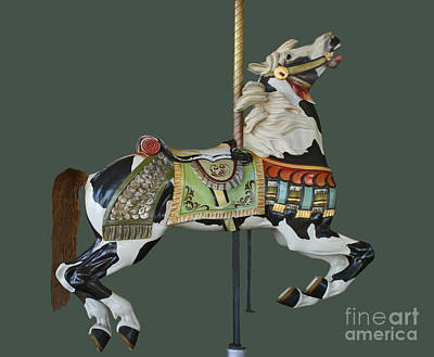 Photograph - Carousel Paint Horse by Cindy Lee Longhini