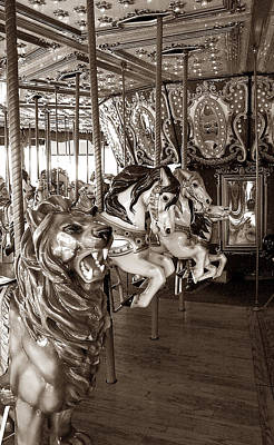 Art Print featuring the photograph Carousel by Raymond Earley
