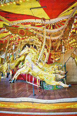 Pleasure Horse Photograph - Carousel by Tom Gowanlock