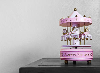 Carousel Toy  Art Print by Natee Srisuk