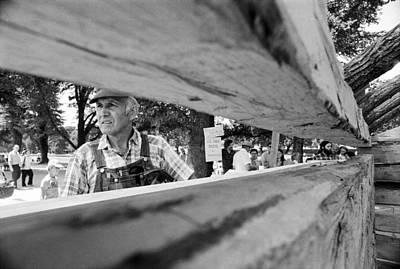 Carpenter And Split Rails Original by Jan W Faul