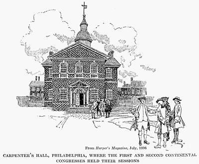 Carpenters Hall Print by Granger