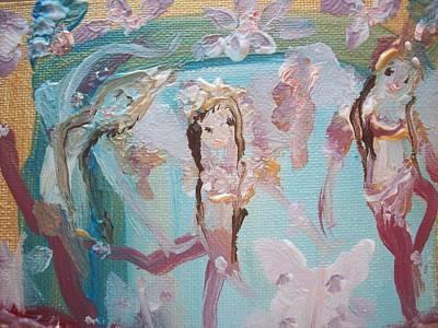 Carpet Fairies Art Print by Judith Desrosiers