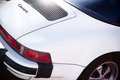 Photograph - Carrera Porsche White Backend  by James BO Insogna