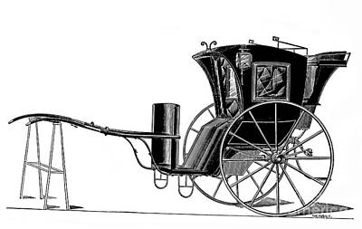 Carriage: Hansom Cab Art Print by Granger