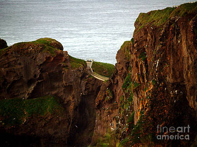 Photograph - Carrick-a-rede Bridge II by Patricia Griffin Brett