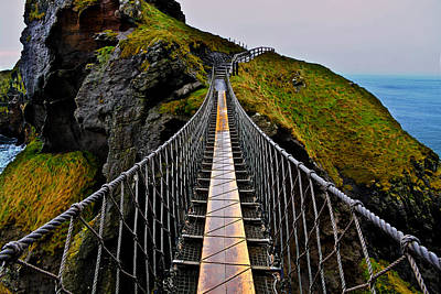 Photograph - Carrick-a-rede Rope Bridge by Justin Albrecht