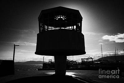 Radio Control Photograph - Carrickfergus Pier Radio Control Tower County Antrim by Joe Fox