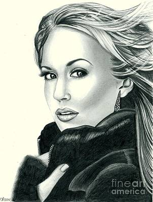 Carrie Underwood Art Print