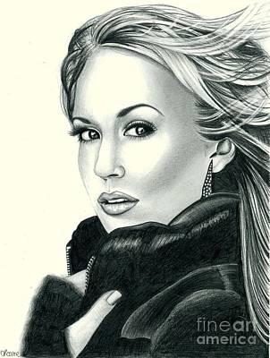 Carrie Underwood Art Print by Crystal Rosene