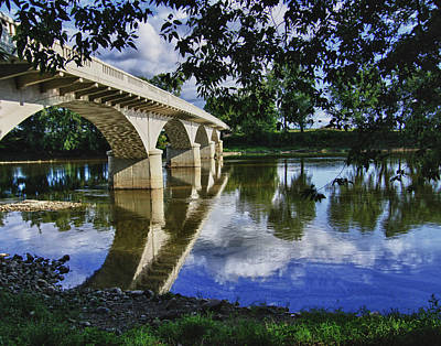 Carrollton Bridge Over The Wabash Art Print by Jim Finch