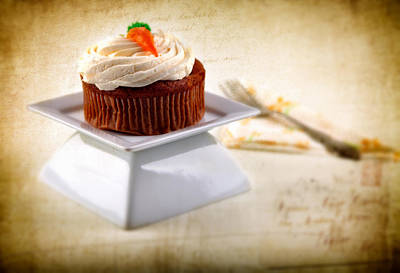 Carrot Cupcake Art Print by James Bethanis