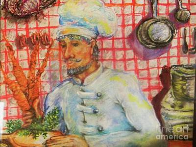 Carrot Soup Chef Art Print by Emily Michaud
