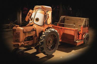 Photograph - Cars Land Cow Tractor by Heidi Smith