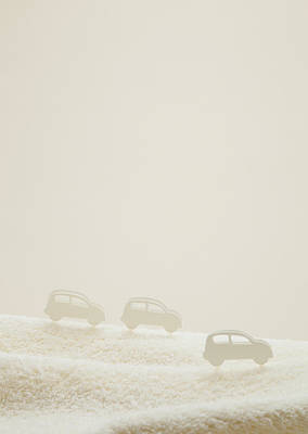 Y120831 Photograph - Cars On Towel by sozaijiten/Datacraft