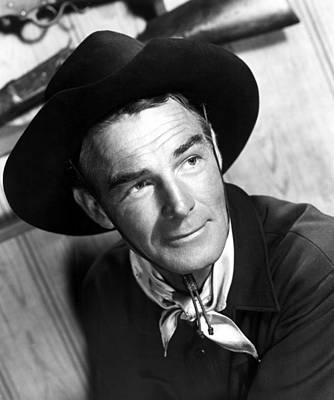 Falcondvd19 Photograph - Carson City, Randolph Scott, 1952 by Everett