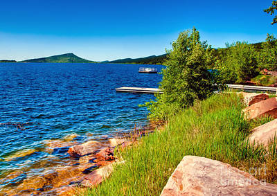 Photograph - Carter Lake Shoreline by Harry Strharsky