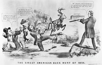 Cartoon: Election Of 1856 Art Print by Granger