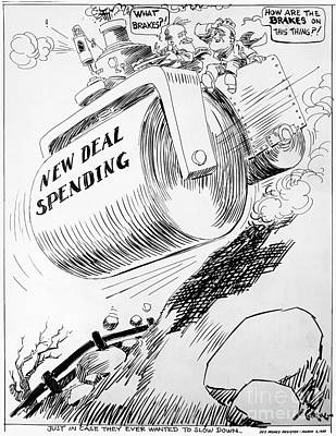 Photograph - Cartoon: New Deal, 1936 by Granger