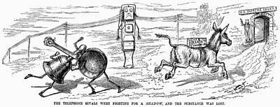 Cartoon: Telephone, 1886 Print by Granger