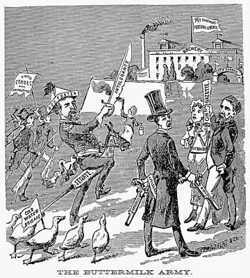 Anti Immigrant Photograph - Cartoon: Temperance, 1884 by Granger