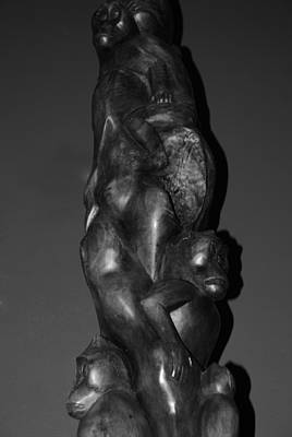 Ethereal - CARVED MONKEYS in BLACK AND WHITE by Rob Hans