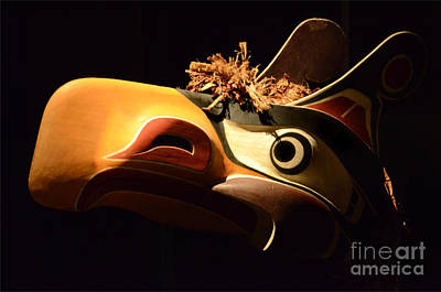 Haida Photograph - Carved Wooden Mask 3 by Bob Christopher