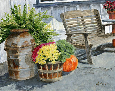 Milk Can Painting - Carversville General Store by Margie Perry