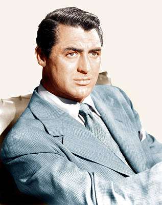 Lapel Photograph - Cary Grant, Ca. Early 1940s by Everett