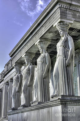 Caryatids Of Science And Industry Art Print by David Bearden