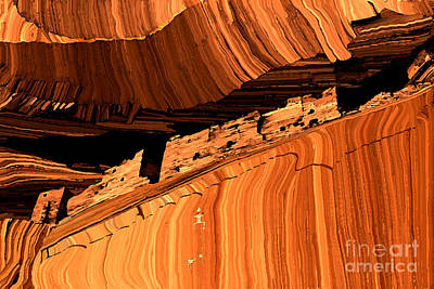 Petroglyph Painting - Casa Blanca by Jerry McElroy