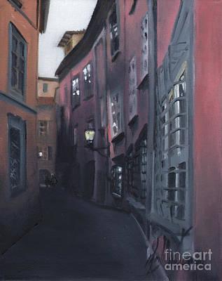 Tuscan Hills Painting - Casa Cordati II by Leah Wiedemer