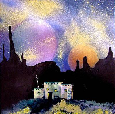 Luna Mixed Media - Casa Del Luna by Big Hand  Designs