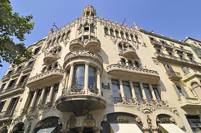 Photograph - Casa Lleo Morera In Barcelona by Matthias Hauser