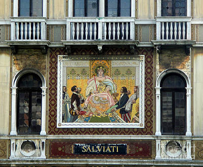Casa Salviati -  Palace Of The Murano Glassblowers Art Print by Gregory Dyer