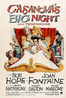 Casanovas Big Night, Joan Fontaine, Bob Art Print