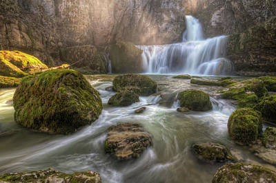 Cascade Of Billaud Art Print by Philippe Saire - Photography
