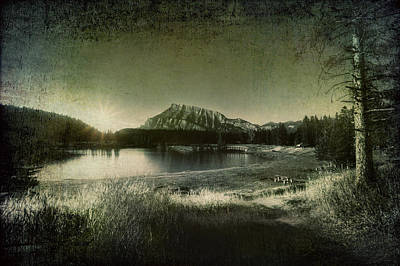 Cascade Pond Banff Art Print by Diane Dugas