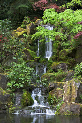 Photograph - Cascading Waters by Jean Hildebrant