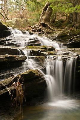 Pool Break Photograph - Cascading Watterfall Broken Leg State Park by Douglas Barnett