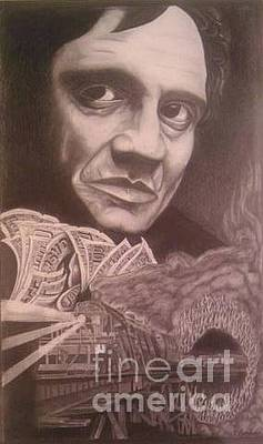 Johnny Cash Drawing - Cash by Taylor Made Designs