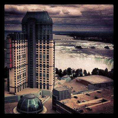 Steam Wall Art - Photograph - Casino And Niagara Falls by Peter Ryan