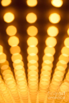Movie Photograph - Casino Lights Out Of Focus by Paul Velgos