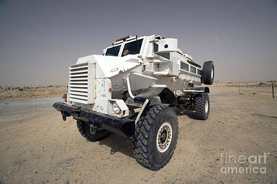 Casper Armored Vehicle Sits Art Print by Terry Moore