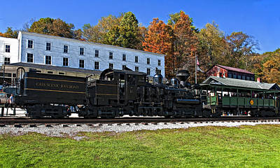 Autumn Photograph - Cass Railway Wv Painted by Steve Harrington
