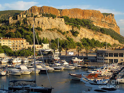 Provence Photograph - Cassis - The Harbour And Cap Canaille by Rod Jones