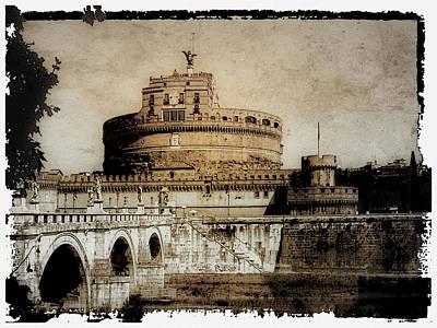 Roman Statue Photograph - Castel Sant' Angelo Rome by Julie Palencia