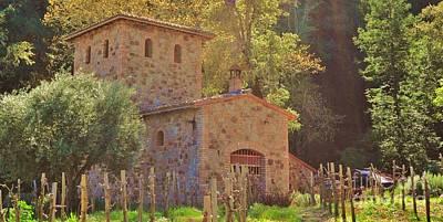 Castillo De Amoroso Farmhouse Napa Valley Art Print by George Sylvia