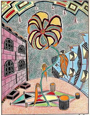 Castl Yard Art Print by Yury Bashkin